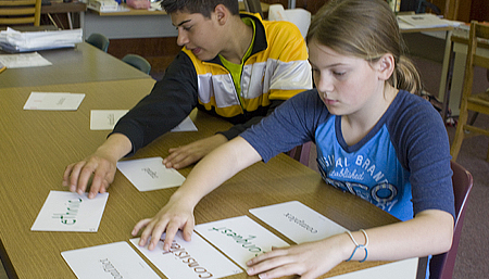 Students in a Just Words classroom