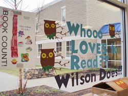 Who Loves to Read Book Campaign Window